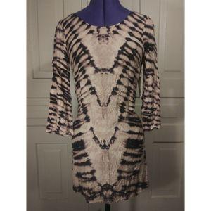 NWT Billabong dress tunic bell sleeved acid washed